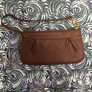 Brooks Brothers Brown Leather Wristlet